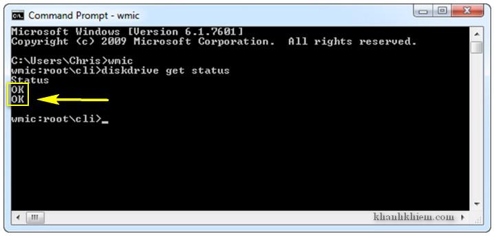 hướng dẫn cách kiểm tra tình trạng ổ cứng bằng lệnh