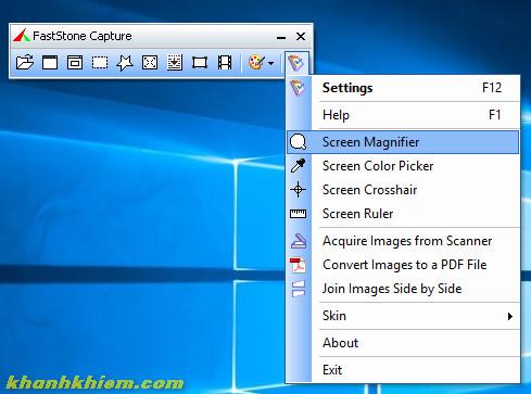 FastStone Capture - phần mềm chụp ảnh màn hình
