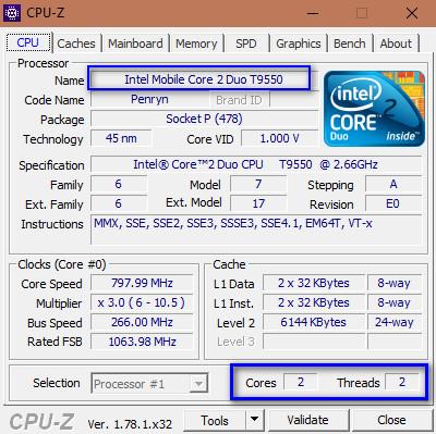 Kiểm tra cấu hình máy tính với CPU-Z