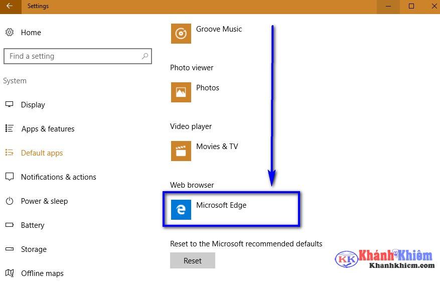 04-Cách thay đổi trình duyệt mặc định trên windows 10