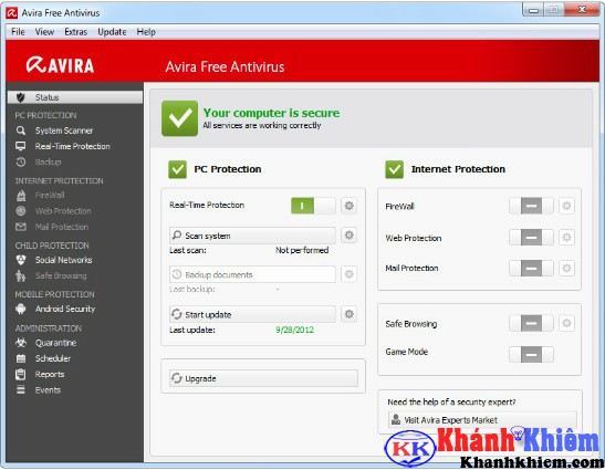 Avira Free Antivirus 2017-Phần mềm diệt virus miễn phí tốt nhất