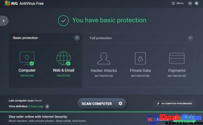 AVG AntiVirus Free 2017-Phần mềm diệt virus miễn phí tốt nhất
