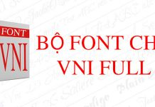 tải bộ font vni