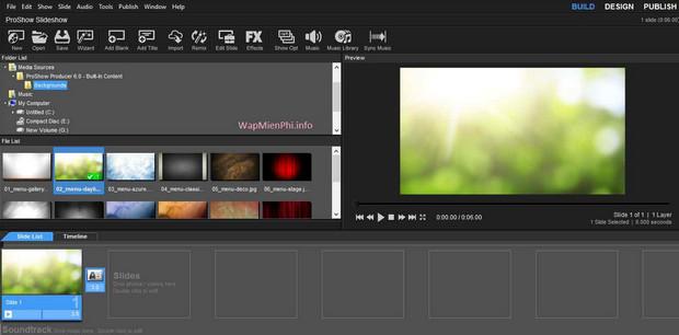 Làm video từ ảnh và nhạc với phần mềm proshow producer