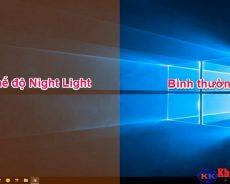 Cách bật chế độ ban đêm (night light) trên windows 10