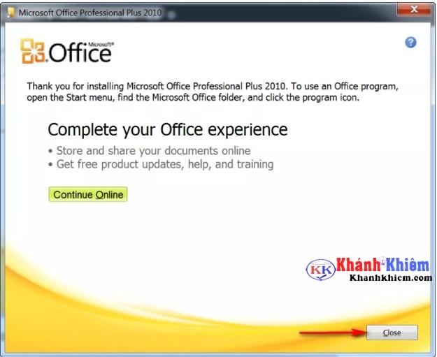 cách cài office 2010