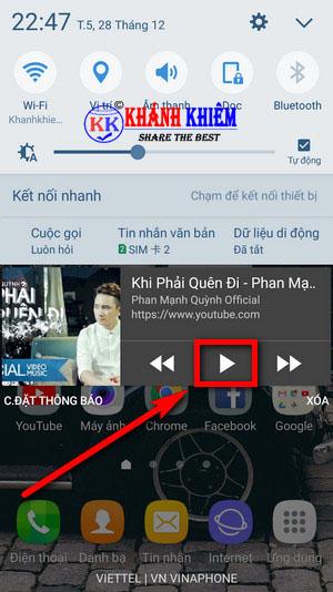 Cách nghe nhạc youtube khi tắt màn hình android 04