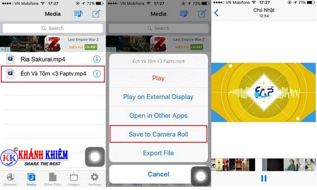 Cách tải video trên facebook về iphone/ ipad 05