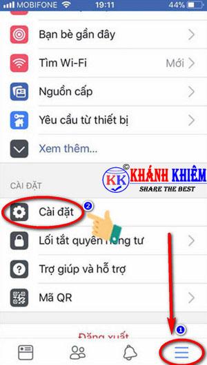 cách đăng xuất Messenger trên iphone để chuyển tài khoản 05