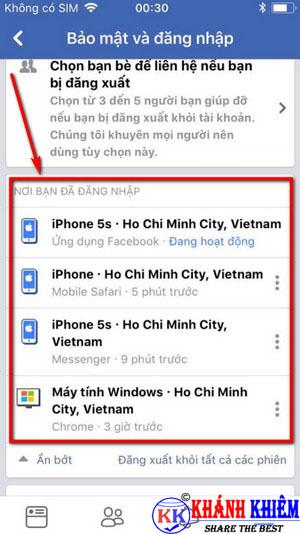 cách đăng xuất Messenger trên iphone để chuyển tài khoản 08
