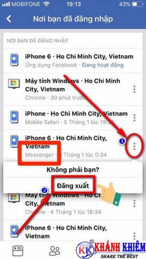 cách đăng xuất Messenger trên iphone để chuyển tài khoản 09