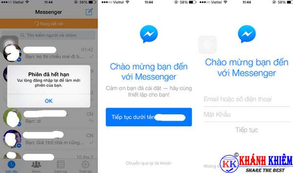 cách đăng xuất Messenger trên iphone để chuyển tài khoản 10