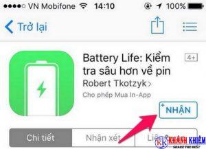 Cách kiểm tra pin iphone - phần mềm kiểm tra độ chai pin iphone Battery Life