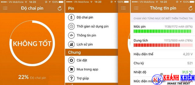 Cách kiểm tra pin iphone - phần mềm kiểm tra độ chai pin iphone
