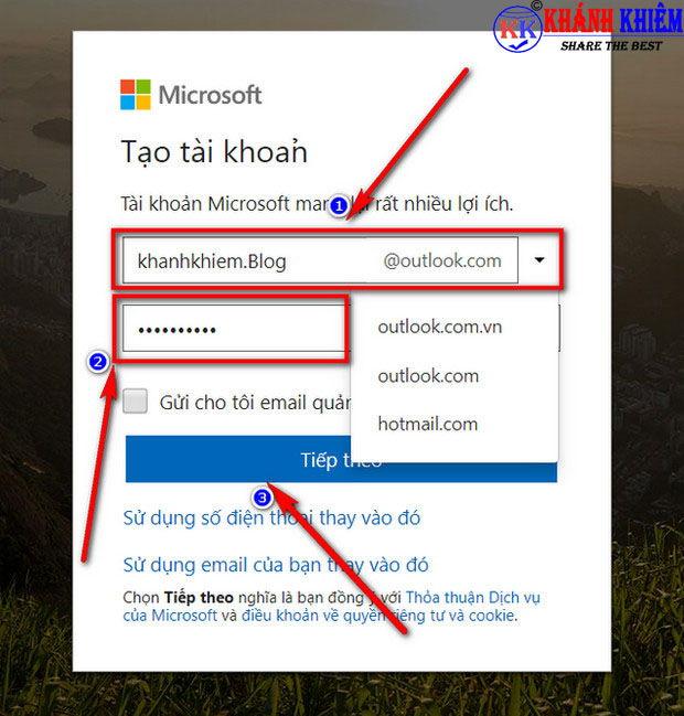 cách tạo tài khoản Microsoft - đăng ký tài khoản Microsoft 01