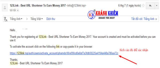 kiếm tiền online - Rút gọn link kiếm tiền với 123link 05