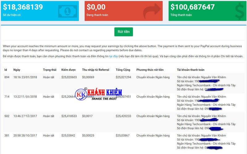 kiếm tiền online - Rút gọn link kiếm tiền với 123link 03