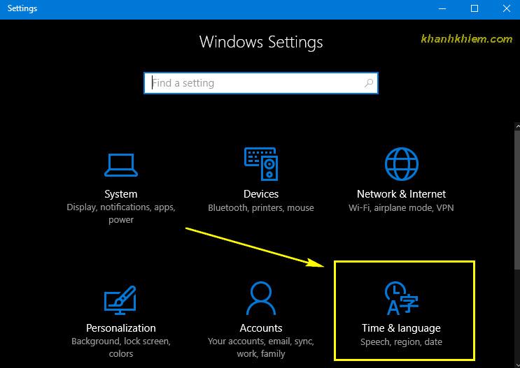 01 - Cài đặt ngôn ngữ tiếng việt trên windows 10