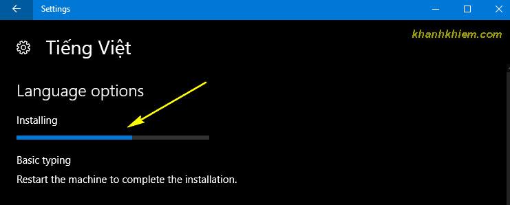 07 - Cài đặt ngôn ngữ tiếng việt trên windows 10