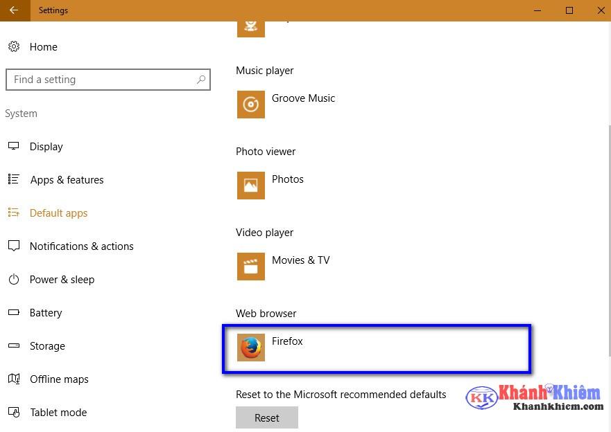06-Cách thay đổi trình duyệt mặc định trên windows 10
