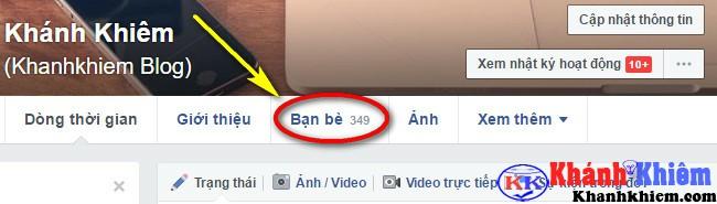 cách ẩn danh sách bạn bè trên facebook 01