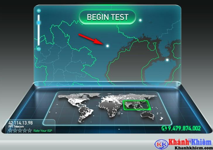 Cách kiểm tra tốc độ mạng Internet trên Speedtest