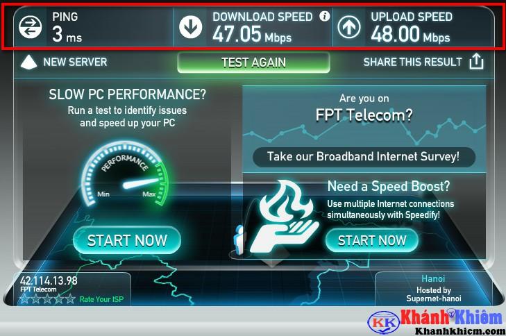 Cách kiểm tra tốc độ mạng Internet trên Speedtest -01