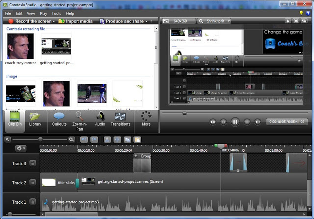 chỉnh sửa video với camtasia studio