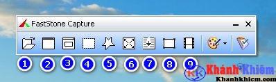 Giao diện faststone capture phần mềm chụp màn hình máy tính