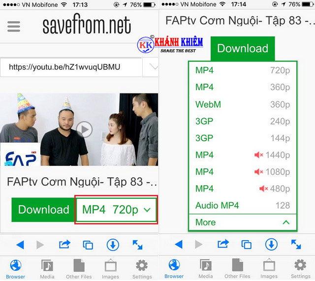 Cách tải video trên facebook về iphone/ ipad 03