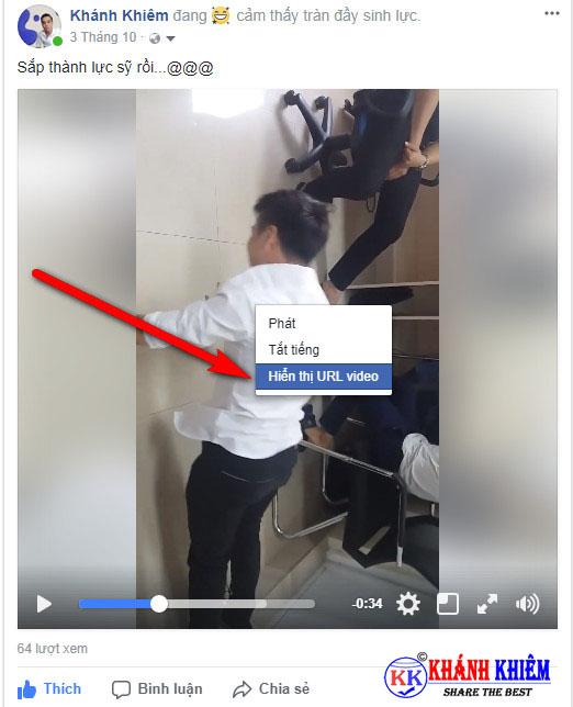Cách tải video trên facebook về máy tính 01