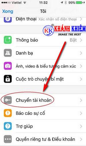 cách đăng xuất Messenger trên iphone để chuyển tài khoản 03
