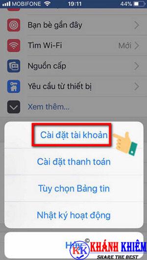 cách đăng xuất Messenger trên iphone để chuyển tài khoản 06