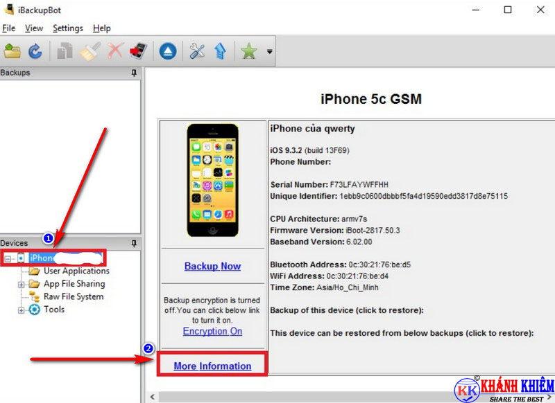 Cách kiểm tra pin iphone - phần mềm kiểm tra độ chai pin iphone iBackupBot