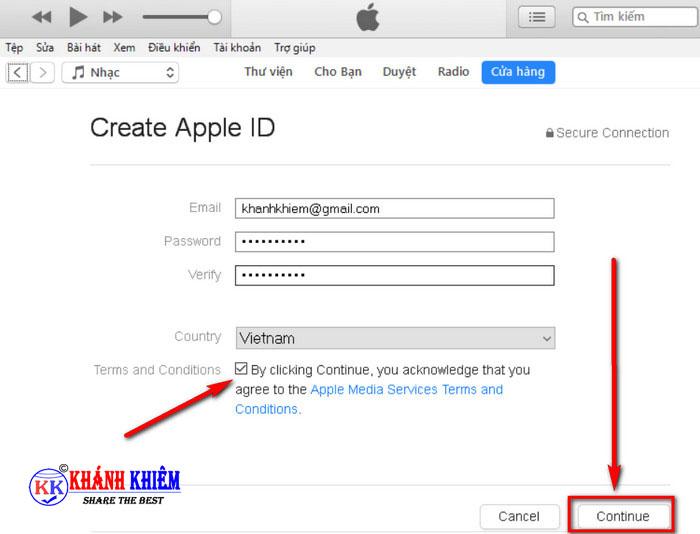 cách tạo id apple trên máy tính 08