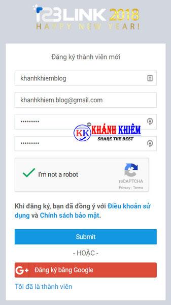 kiếm tiền online - Rút gọn link kiếm tiền với 123link 04